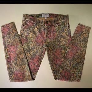 CURRENT ELLIOTT Print Denim Jeans, Size 27
